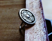 Rustic Coin Ring - READY TO SHIP