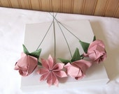 Soft Pink Fancy Origami Roses