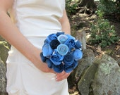 Shades of Blue: Rose Origami Bouquet