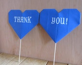 """Custom Origami Heart """"Thank You"""" or """"His Mr. Her Mrs."""" Photo Props"""