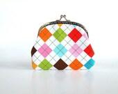 Colorful remix argyle purse,summer,geometric
