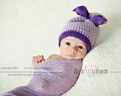 Sugargem Hats...lots of colors...sack hat tied with pretty ribbons...avaliable in newborn only....