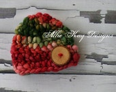 Christmas Green and Red...size newborn...OOAK
