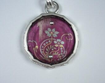 Sterling Silver Nouveau Violet Necklace