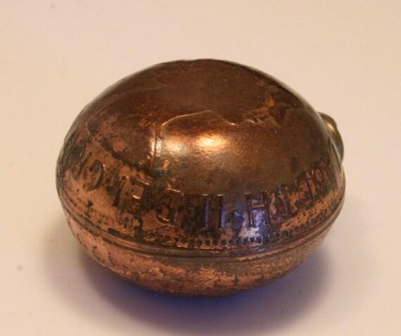 Vintage coin pendant. Old British penny necklace. Domed. Queen Elizabeth