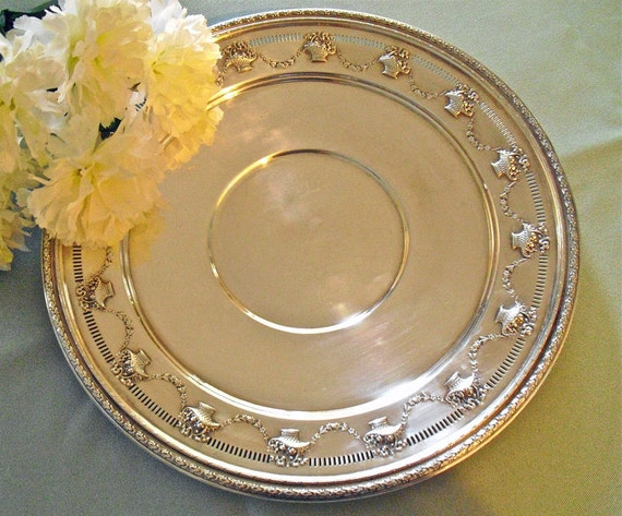 Silver Serving Tray Reed Amp Barton Round Tray Epns 1706