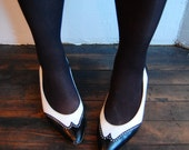 Vintage 1980s Black and White GUCCI Spectator Heels - Size 9.5