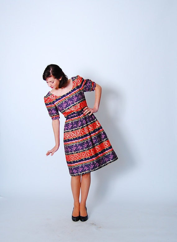 Vintage 1960s Dress - 60s Party Dress - The Eye Spy Dress
