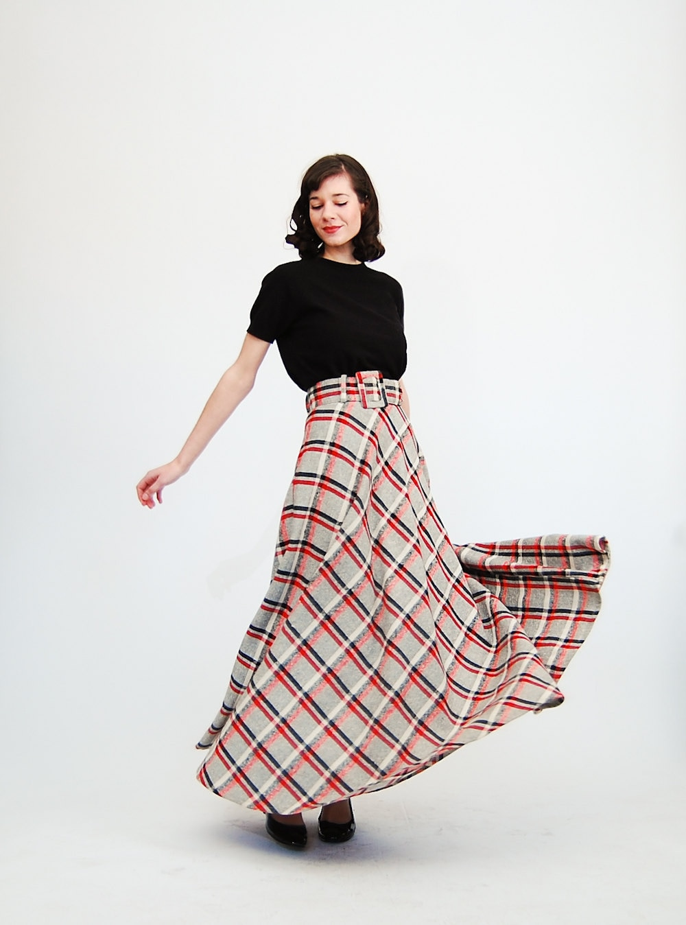 vintage 1970s maxi skirt 70s maxi skirt by concettascloset