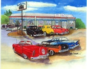 8 x 10 Art Print of the Remember When Diner in Rochester, NH
