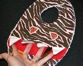 RESERVED for Valentina: Custom Super Hero Toothy Monster Teething Bib