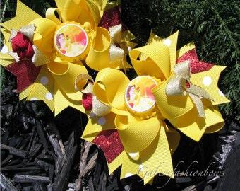 Gabersfashionbows Disney Princess Belle Bottlecap Hairbows
