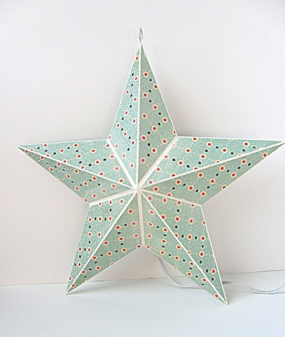 Really Fun 3 Dimensional Hanging Lighted Star Retro Look