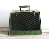 vintage mid century pet carrier