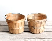 vintage set of two berry baskets