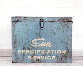 vintage industrial sun specification service bin