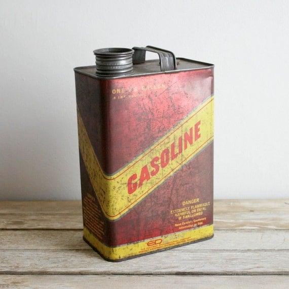 SALE vintage metal gasoline can