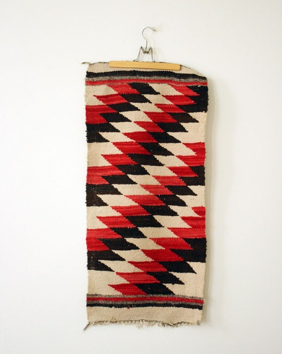 antique serrated diamonds navajo rug