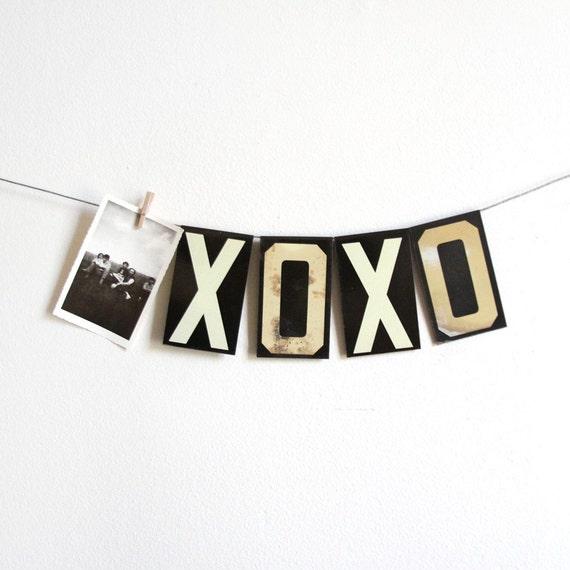 vintage large black metal hanging letters With metal hanging letters