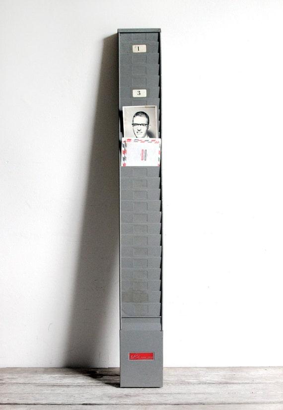 vintage industrial time card rack - no. 2