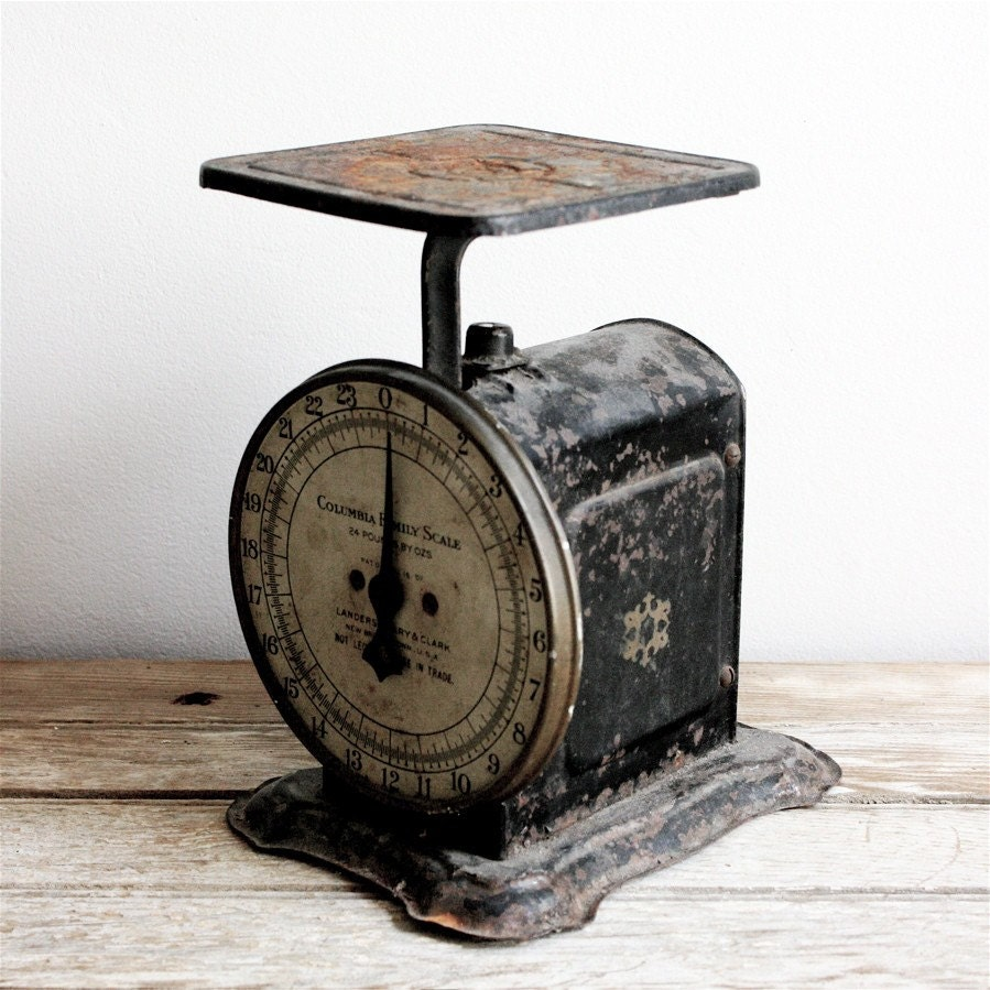 Antique Kitchen Scale By Lacklusterco On Etsy