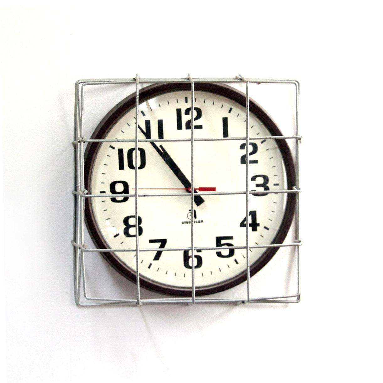 vintage school gymnasium clock