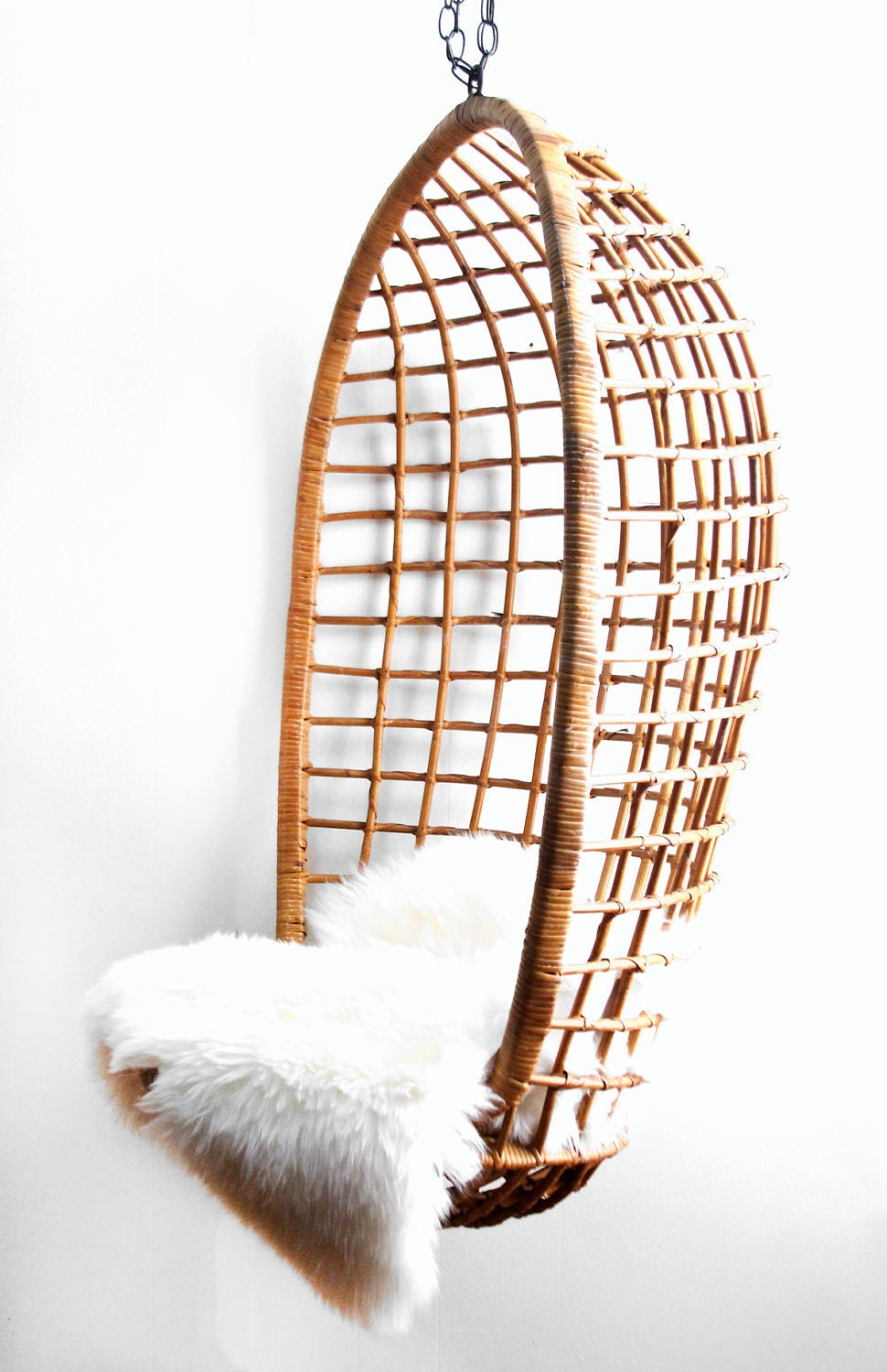 Vintage Hanging Rattan Egg Chair By Lacklusterco On Etsy