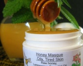 Facial Mask, Organic Raw Honey, Oily Skin, Tired Skin, Blackheads, Face Masque
