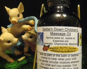 Children's Settle'n Down Massage and Body  Oil