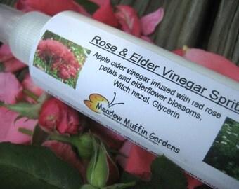 Body Spray Sunburn Soother, Rose & Elderflower Apple Cider Vinegar Spritz