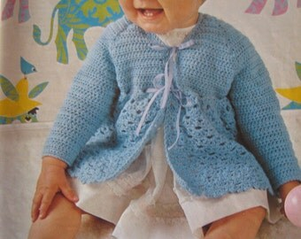 Vintage Crochet Baby Sweater Pattern PDF Pattern P176g