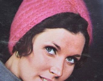 1960's Vintage Knitting PDF Pattern Women's Turban Hat 2164-165