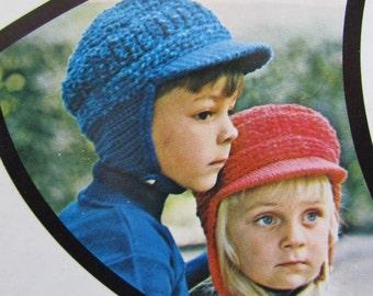 Vintage Crochet Pattern Children's Hat with Brim PDF Patterns 864