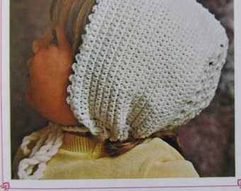 Vintage Crochet PDF Pattern Baby Hat 870