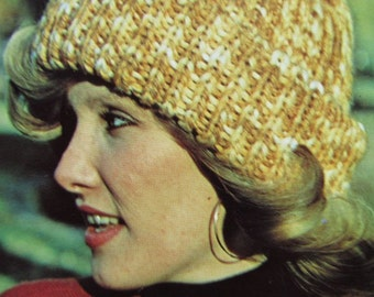 PDF Knitted Hat Pattern - Vintage Pattern, Knit Hat with Folded Brim 2288-212