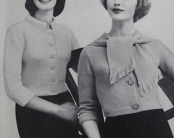 Knit Sweater Patterns - 2 Vintage Patterns, 1960's Women's Knit Sweaters PDF Patterns 733-13, 733-14