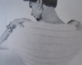 Knit Shrug Pattern - 1950's Vintage Pattern, Ladies' Knitted Shrug Pattern PDF 3361