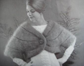 1960's Vintage Knitting Pattern Women's Sleeved Stole PDF Pattern 1270