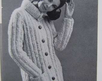 1960's Knitting Patterns, Vintage Pattern Women's Sweater Pattern PDF 6709