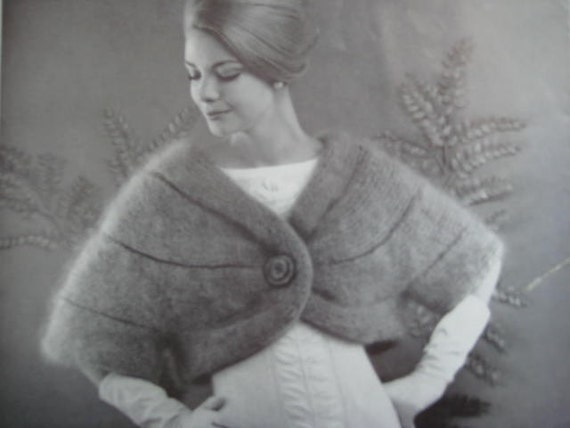 1960's Vintage Knitting Pattern Women's Sleeved Stole 1270 PDF Pattern