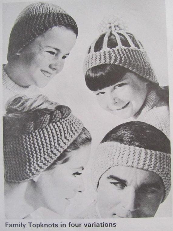 Knit Hat and Headband Patterns Vintage PDF by ...