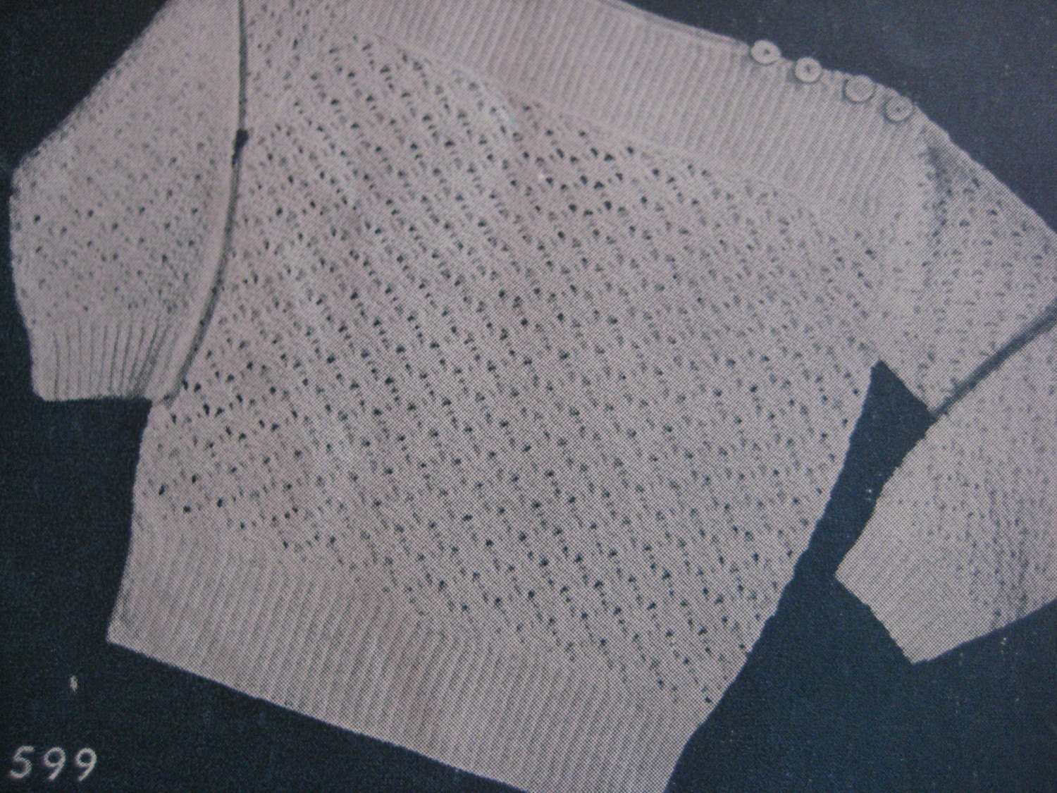 1940s Vintage Crochet Pattern for Baby Pullover Sweater