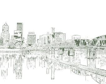 Portland a Kaleidoscope City Print
