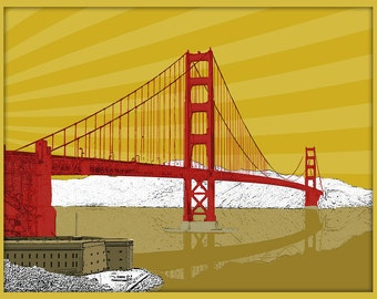 Golden Gate Bridge San Francisco California Print