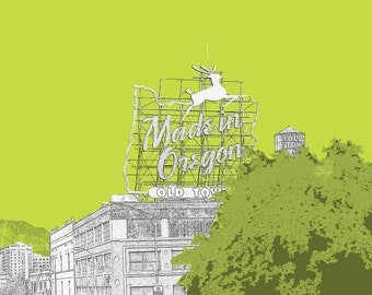 Made in Portland Old Town City Print