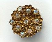 Vintage sparke flower brooch