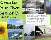 Create Your Own Set of 3 Photos -You Choose- BEST VALUE
