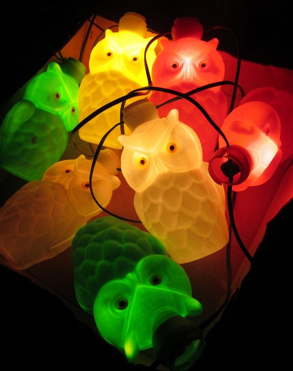 Noma Party String Lights : Vintage Owl Noma Patio Party Lights Party-Lites