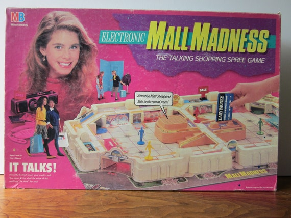 Vintage Electronic Mall Madness Board Game - COMPLETE