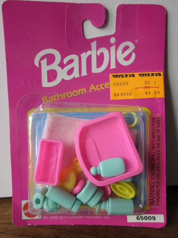 RESERVED ITEM - Barbie Bathroom Accessories - Scale, Cosmetics, Toiletries, Towel